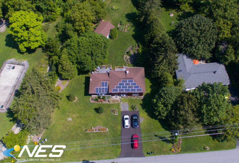 Aerial solar panel shot