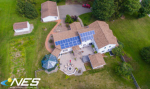 Overview of a solar installation at a Central New York house