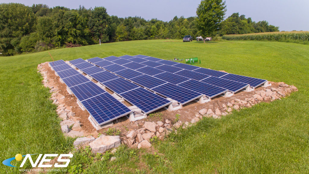 Ballasted Ground Mount Solar Panels | Nickels Energy Solutions