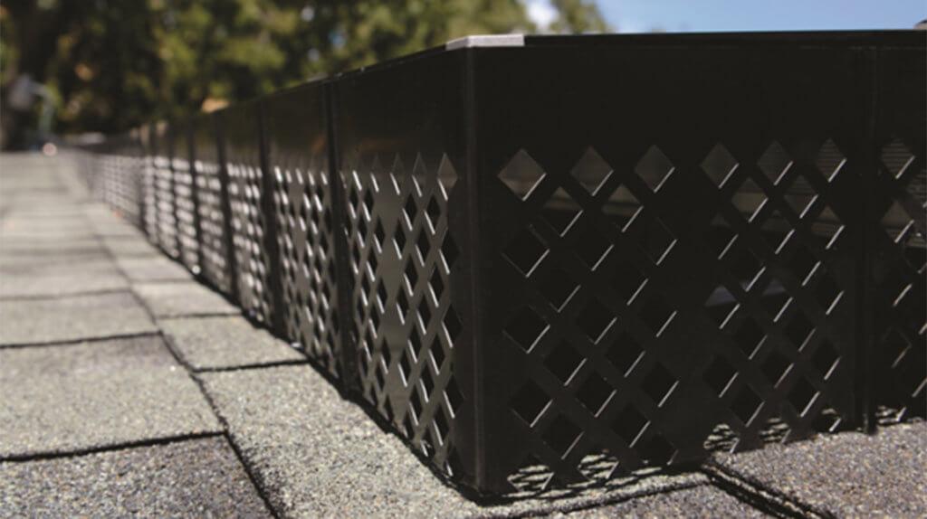 closeup shot of solatrip on a roof