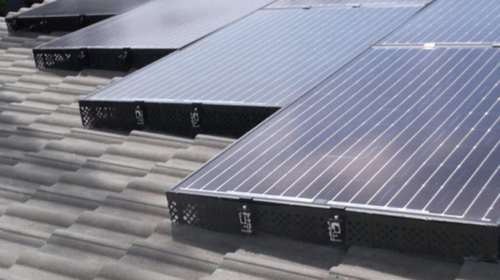 solar panels installed with solatrim